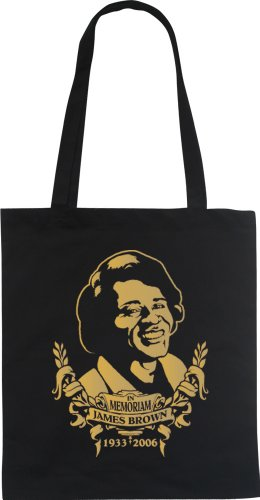 In Memoriam James Brown–Fun Bolsa Tote Bag Funda de algodón wizuals dorado
