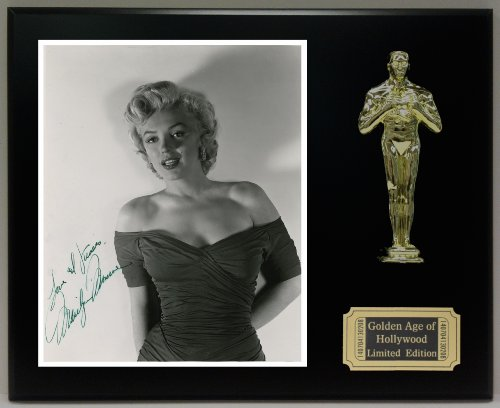 Marilyn Monroe Reproduction Autographed 8 x 10 Photo LTD Edition Oscar Movie - Monroe Statue