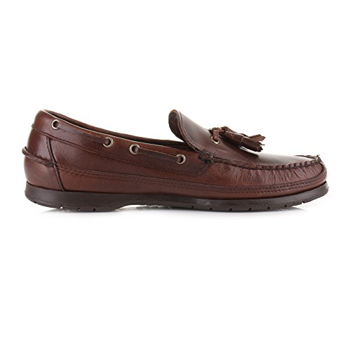 Uomo Barca Brown Sebago Total Leather Scarpe da Ketch Oily Waxed xnqHIa