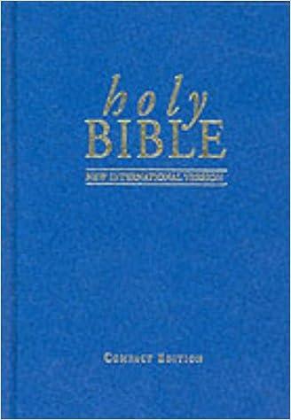 NIV Compact Bible blue (Bible Niv)