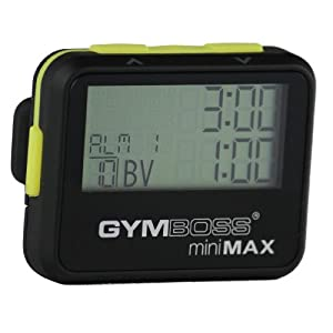 Gymboss miniMAX Interval Timer and Stopwatch BLACK/YELLOW SOFTCOAT