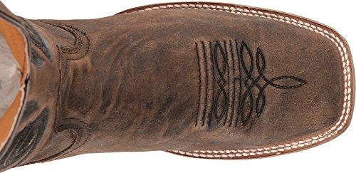 Corral Mens Broderi Cowboykänga Fyrkantig Tå Brun 8,5 D