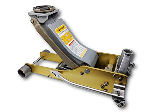 Liftmaster 3 Ton Aluminum and Steel Low Profile High Lift Floor Jack (Gold)...