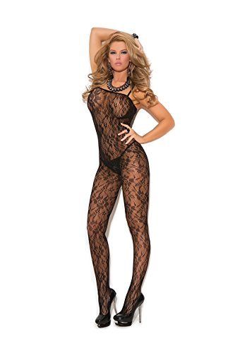 Rose Lace Bodystocking - Plus Size Women's Rose Lace Crotchless Bodystocking