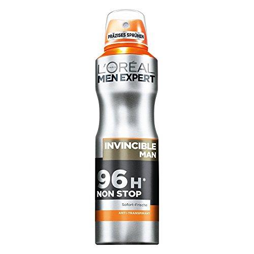 L'Oréal Men Expert Deodorant Invincible Man - Deospray Männer (6 x 150 ml)