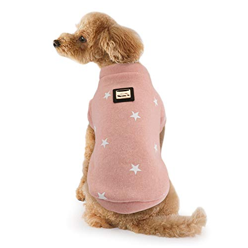 - IdepetPet Dog Clothes Soft Cotton Warm Small Dog Coat Pentagram Puppy Sweatshirt for Small Dogs