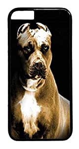 iphone 6 4.7inch Case Pitbull Dog HAC1014400 PC Hard Plastic Case for iphone 6 4.7inch Black