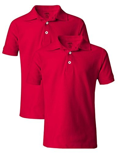 French Toast Boys/' Uniform Short Sleeve Polo 2 Pack Red
