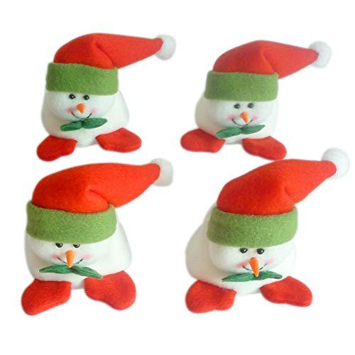 Baywell Protectors Table Leg Chair Foot Covers 4Pcs Santa Claus Snowman Pattern (Snowman)
