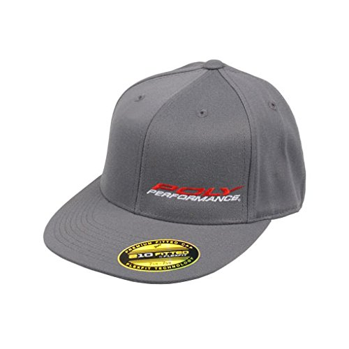 Poly Performance Puff Logo Hat, Flexfit 210 Series, Size 6 7/8- 7 1/4, Dark Grey (Ppi Series)
