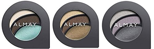 Almay Cosmetics Intense I-Color Party Brights (135 Hazels), Everyday Neutrals (115 Hazels) and Evening Smoky (155 Hazels) Eyeshadow Bundle For Hazel Eyes, All Day Wear Powder Shadow, 0.2 oz each