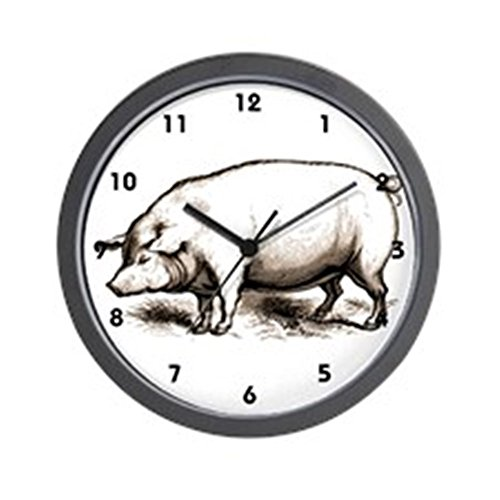 CafePress - Victorian Pig Wall Clock - Unique Decorative 10