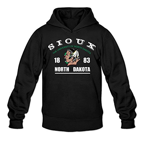 (NUBIA Men's University Of ND Fighting Sioux Classic Sweater Black)