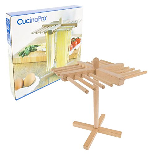 Pasta Drying Rack by Cucina Pro - Real Wood, Folds Flat for Easy Storage (Cucina Pro Pasta compare prices)