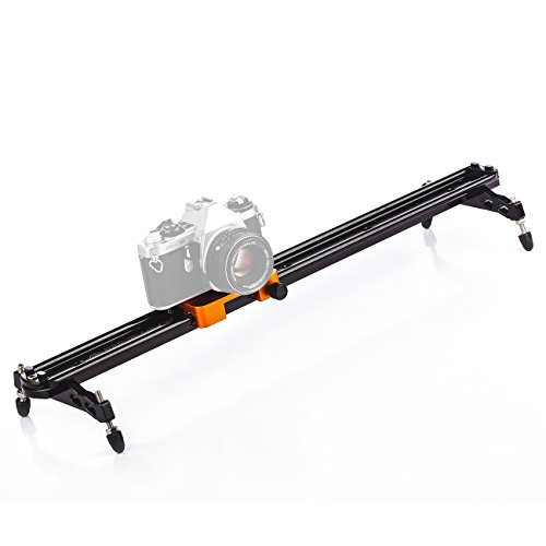 TARION TS2-60 Track Slider 60cm 24'' Stabilization Rail System Damping Adjustable for 1/4'' 3/8'' Tripod Ball Head DSLR Video Camera Camcorder