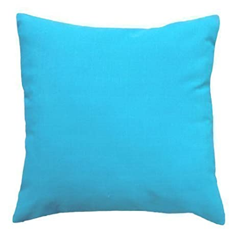 Shopisfy 18 Water Resistant Outdoor Filled Scatter Cushion in Blue Join Detail