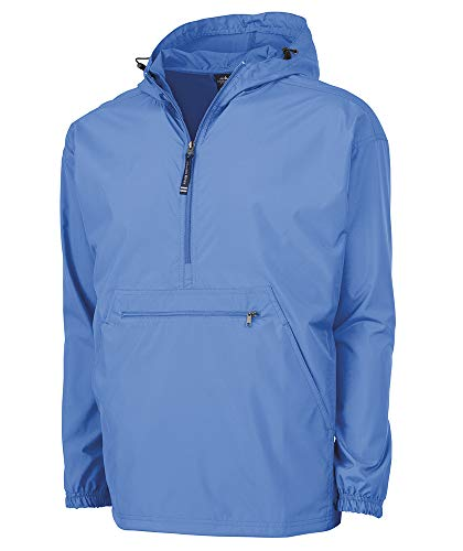 (Charles River Apparel Pack-N-Go Wind & Water-Resistant Pullover (Reg/Ext Sizes), Columbia Blue,)