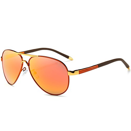 gafas ESPEJO para polarizadas LENTES frío Automóvil hombres azul UV400 de macho estilo gafas DE Oro polarizadas sol de de gafas sol TIANLIANG04 piloto g7fRqS