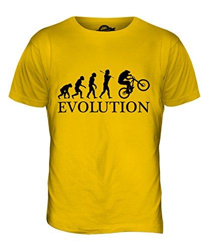 Downhill Mtb Evolution Des Menschen - Herren T-Shirt T-shirt Top - Herren, Karamellbonbon, M