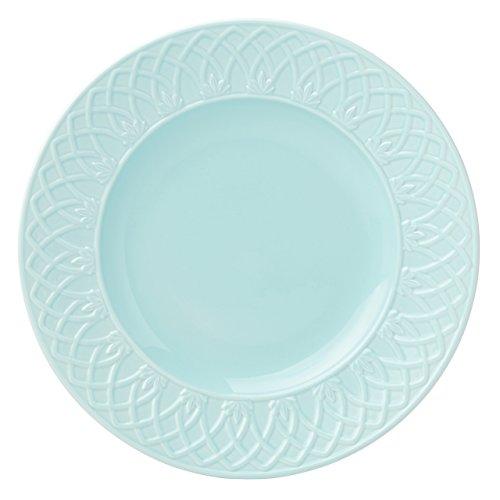 al Carved Accent/Salad Plate, Aqua (Aqua Salad Bowl)