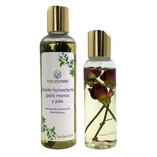 Naturaness Aceite para masaje corporal hidratante a base de extractos herbales 100% naturales, Aroma Rosas