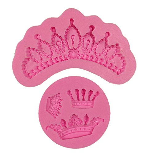 Yunko Tiaras Queen Crown Princess Shape Silicone Chocolate Fondant Candy Mold Cake Decoration