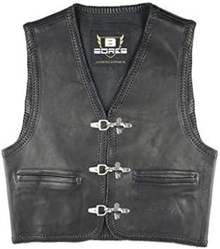 Bores Sunride 1 Rinder Lederweste, Innenliegende Taschen, Schwarz, Größe 3XL