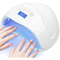 Chimocee 48W or 24W Super Size UV LED Nail Lamp with 4 Time Setting Mode, Automatic Sensor Nail Dryer for Both Two Hands or Feet (White)