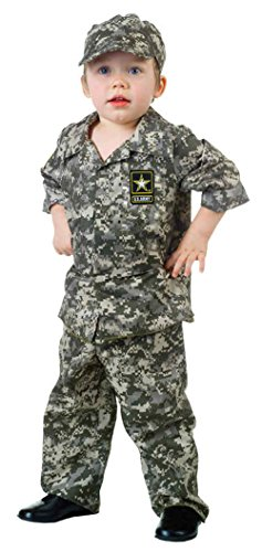 UHC Little Boy's U.S. Army Uniform Toddler Kids Fancy Dress Halloween Costume, 2T-4T (Mascot Uniforms)
