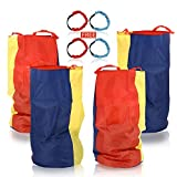 """Potato Sack Race Bags 34"""" Hx20 W(Pack of 4) with Three-Legged Race Outdoor Activities for Family Gatherings Games"""