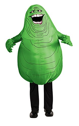 Ghostbusters Adult Inflatable Slimer Set, Green, (Ghostbusters Inflatable Costume)