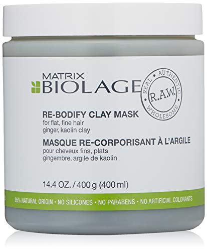 (BIOLAGE R.A.W. Uplift Re-bodify Hair Mask for Flat, Fine Hair with Ginger and Kaolin Clay, 14.4 oz.)
