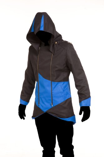 iFigure Cosplay Costume Hoodie Jacket for Adult and Child Black & Blue]()