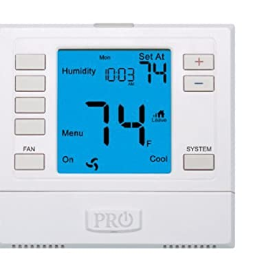 PRO1 IAQ T755H Humidity Touchscreen 3 Hot/2 Cold 7 Day Thermostat with 6-Inch Screen by PRO1 IAQ