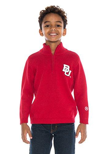 NCAA Boston University Terriers Boys Quarter Zip Sweater, X-Large, Crimson