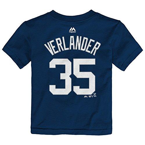 OuterStuff Justin Verlander MLB Majestic Detroit Tigers Player Jersey T-Shirt Toddler 2T-4T