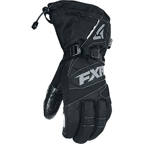 FXR Mens Fuel Snowmobile Glove '19 Black/Charcoal Large