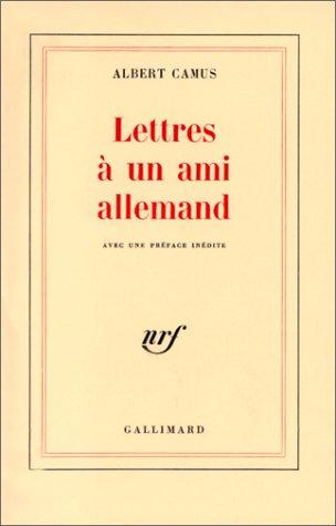Lettres à un ami allemand (Blanche)