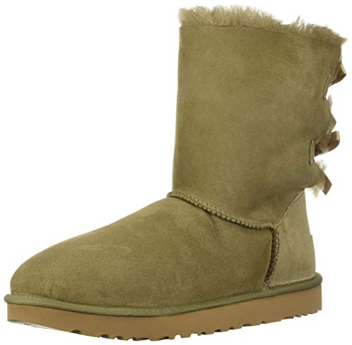 UGG Women's W Bailey Bow II Fashion Boot, Antilope, 10 M US (Women Boots Ugg Leather)