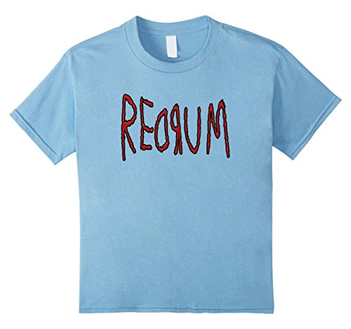 Price comparison product image Kids Redrum Retro Creepy Scary Stories Horror Movie Love T-Shirt 6 Baby Blue
