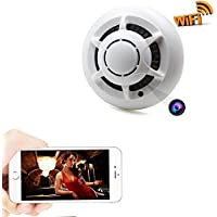 Zarsson WiFi Hidden Camera Smoke Detector Nanny Spy Cam With 90° Wide View Angle and Motion Detection for Home Security & Surveillance Free Apps for iOS Android, PC and Mac (a Free 8G Micro SD Card)