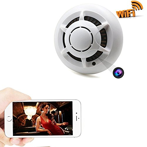 Zarsson Wifi Hidden Camera Smoke Detector Nanny Spy Cam With 90  Wide View Angle And Motion Detection For Home Security   Surveillance Free Apps For Ios Android  Pc And Mac  A Free 8G Micro Sd Card