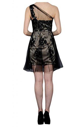 Toskana novia estilo completo de un hombro Noche Ropa tuell cortas con punta Cocktail Party Abi Ball Ropa