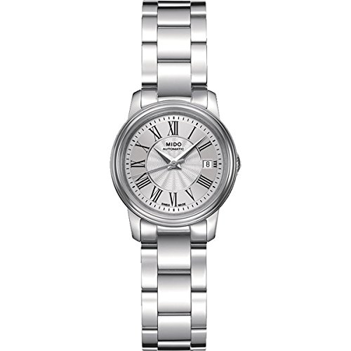 Mido M0102081103300 Watch Baroncelli Iii Ladies M010.208.11.033.00 Silver Dial Stainless Steel Case Automatic Movement (208 Silver Case Watch)