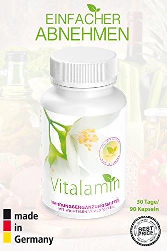 Vitalamin® Tabletten zur unterstützenden Gewichtsreduktion | für erfolgreiches Abnehmen und eine starke Fettverbrennung | 90 Kapseln| Nahrungsergänzungsmittel für Diät und bei Übergewicht | 100% neue FATBURNER-Formel | ohne Zusatzstoffe