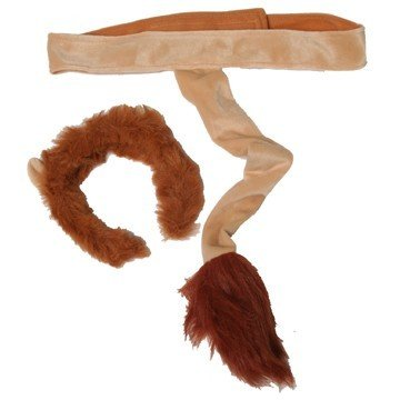 Making Believe Kids Lion Plush Headband Ears Tail Safari Zoo Jungle Dressup Halloween Costume -