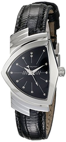 Hamilton Women's H24211732 Ventura Analog Display Quartz Black Watch