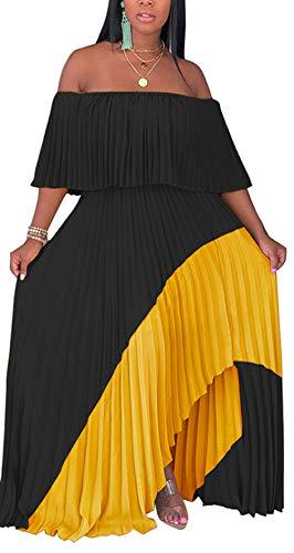 Women Ankle Length Maxi Dress Asymmetric Patchwork Long Maxi Dress Summer Sundress