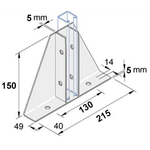 Single Gusset Base Plate - (D037) Direct Channel