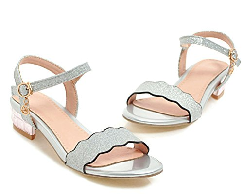 Silver Mules Mules Femme HiTime Femme Silver HiTime HiTime Femme Mules TzZ66w
